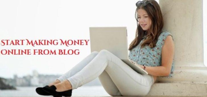 started making money online